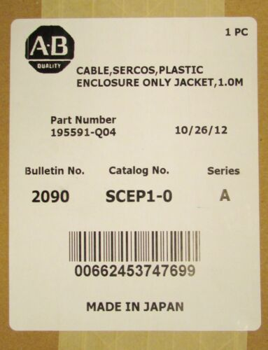 ALLEN BRADLEY 2090 SCEP1 0 Sercos 1.0M Fiber Optic Cable Jacket 195591 Q04