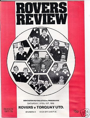 DONCASTER ROVERS  V TORQUAY UTD   4TH DIVISION  1/4/78