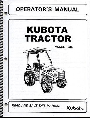 Kubota L35 Tractor Loader Backhoe Operator Manuals Set Of 3