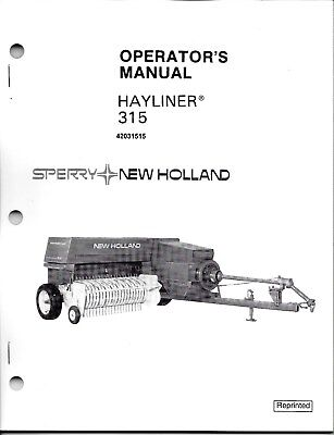 New Holland 315 Square Baler Operator Manual 42031515