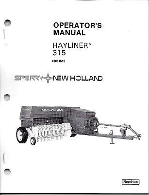 New Holland 315 Square Baler Operator Manual 42031515