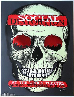 Social Distortion Poster 2001 Concert - Limited Ed. S/N Lindsey Kuhn
