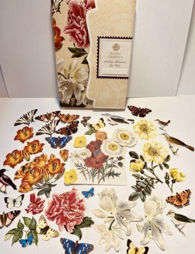 Anna Griffin Antique Botanical Diecuts 30 Adorable Pcs - LAST SET! VHTF + Box
