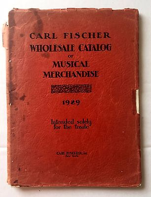 1929 Carl Fischer Musical Instrument and Musical Merchandise Catalog