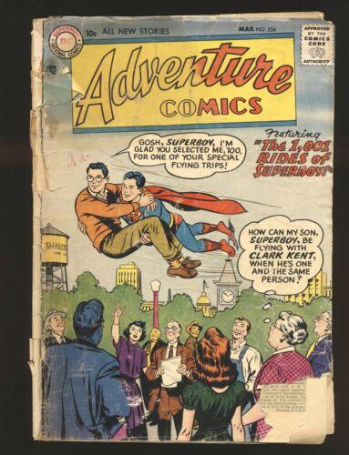 Adventure Comics 234 Poor Cond. Spine Page Splitting - $3.00