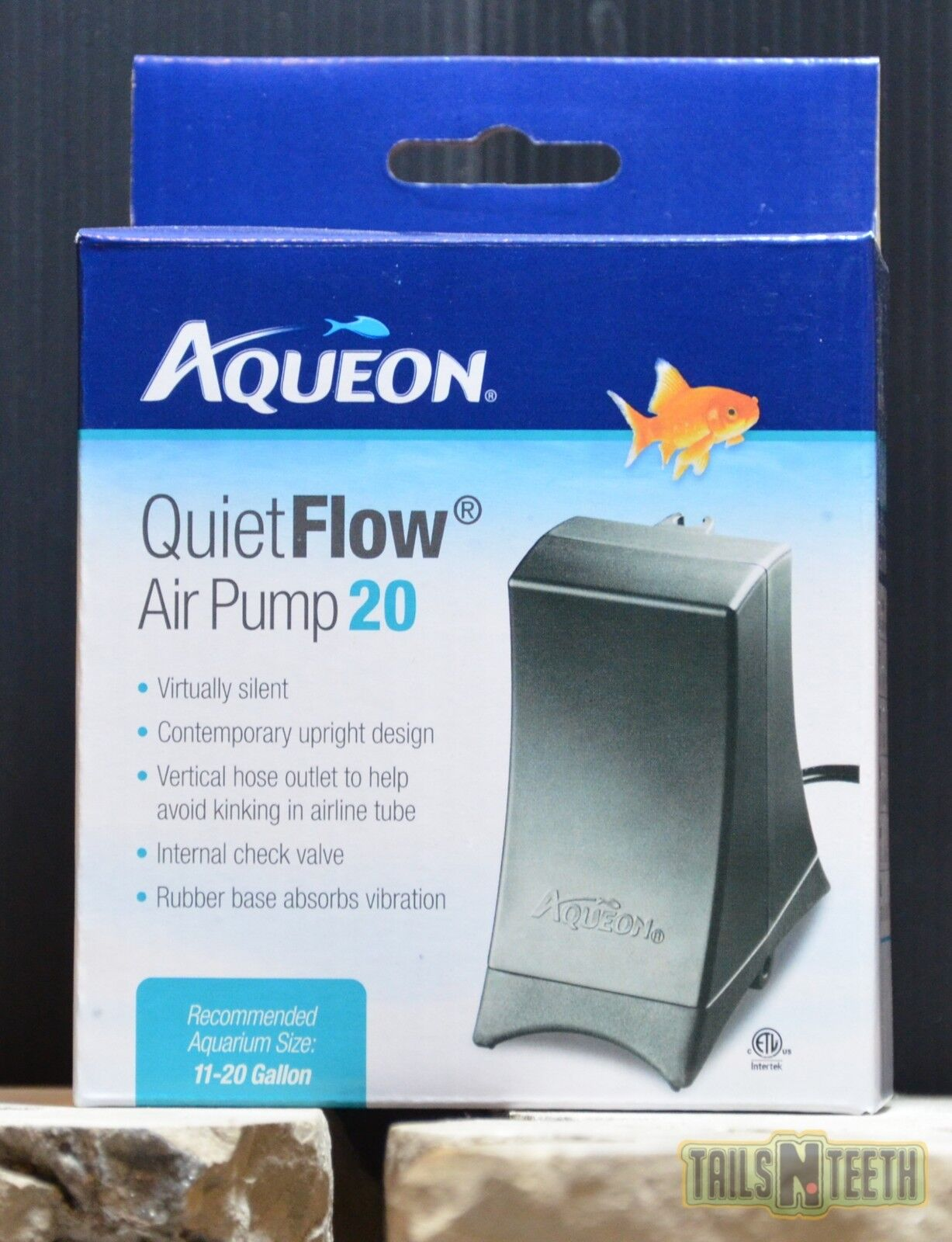Aqueon Quiet Flow 20 Aquarium Air Pump, 11-20 Gallons