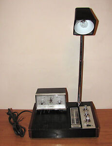 Vintage AM Radio With Bedside / Study Lamp From 1969