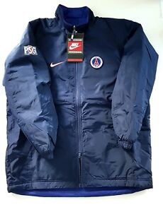 ff5e27294286c5 Vtg 1996 Nike Psg Player Issue Bench Coat Reversible Jacket Football Soccer  L xl