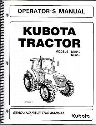 Kubota M8540 M9540 Cab Tractor Operators Manual 3c581-99714