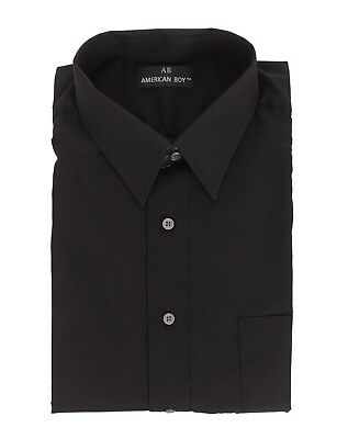 Mens AB Regular Fit Black Cotton Blend Long Sleeve Dress Shirt 19.5 34/35 3XL for sale  Shipping to India