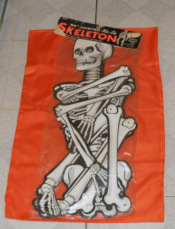 vintage Eureka Halloween 55-inch JOINTED NITE-GLO SKELETON new/sealed