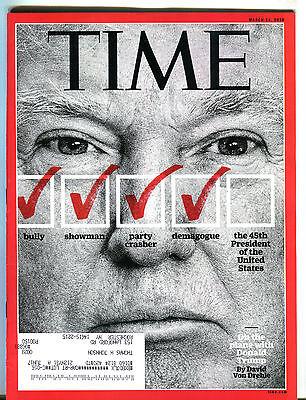 Time Magazine March 14 2016 Donald Trump EX 033116jhe