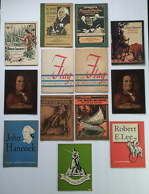 J HANCOCK LOT OF 13 VTG BOOKLETES FRANKLIN ADAMS R. LEE PAUL REVERE C.1920-30'S