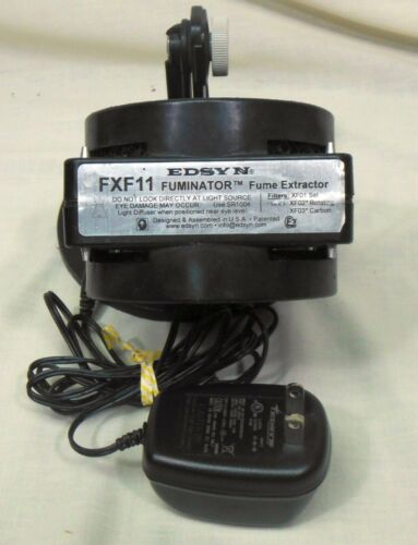 EDSYN  Black Compact Static-Safe FUMINATOR Bench Top Fume Extractor Fan FXF11