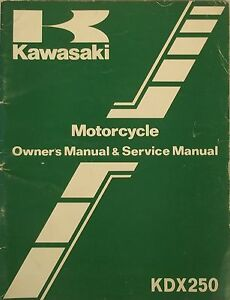 GENUINE-KAWASAKI-KDX250-OWNERS-and-SERVICE-MANUAL-KDX250-B2