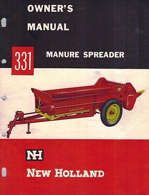 New Holland 331 Manure Spreader Operators Manual Nh New