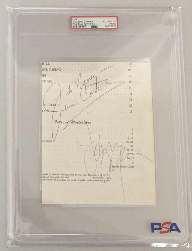 Johnny Cash & June Carter Signed Autograph Cut Signatures - PSA DNA - FREE S&H!