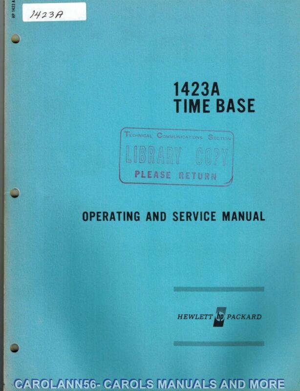 HP Manual 1423A TIME BASE