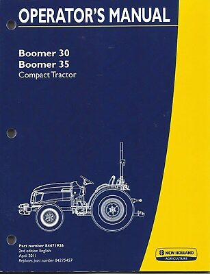 New Holland Boomer 3035 Compact Tractor Operator Manual 84471926
