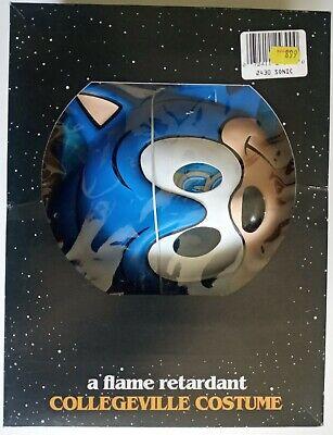 Vintage Sonic The Hedgehog Collegeville Costume New Old Stock 1992 100% Vinyl