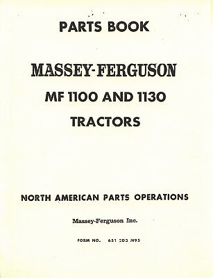 Massey Ferguson Mf-1100 Mf-1130 Mf100 Mf1130 Tractor Parts Book Manual 651203m97