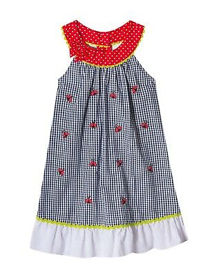Rare Editions Baby Girl Ladybug Gingham Dress  Size 12 Mos  NEW
