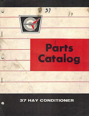 Cockshutt 37 Hay Conditioner Parts Manual