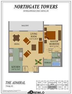 1 bedroom apartment for rent Feb 1 @ 340 Willowdale Crescent