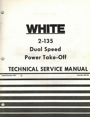 White 2-135 Field Boss Tractor Dual Speed Pto Technical Service Manual