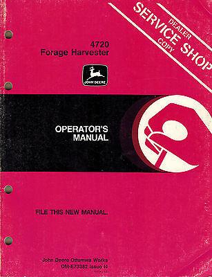 John Deere 4720 Forage Harvester Operators Manual Jd