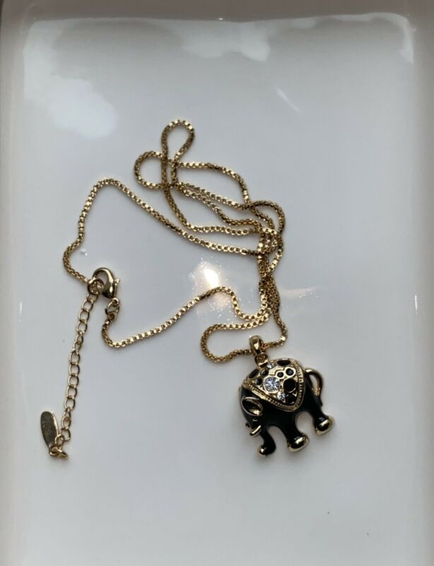 16k Gold Plated Elephant Necklace