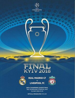 UEFA CHAMPIONS LEAGUE FINAL 2018 Real Madrid v Liverpool - Official Programme