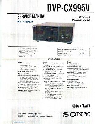 dvp cx995v cd dvd player service