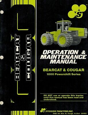 Steiger Bearcat Cougar Tractors Operation And Maintenance Manual
