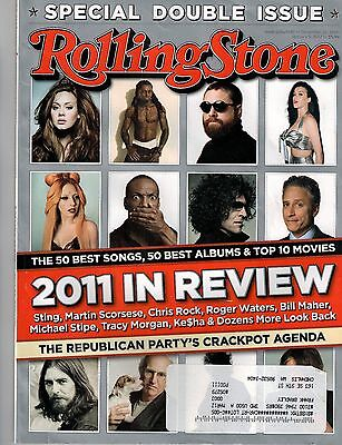 ROLLING STONE MAGAZINE~2011 In Review~Katy Perry~Adele~Lady GaGa~Issue 1146/1147