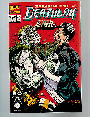 DEATHLOK #6  (Marvel) 1st Print Featuring Punisher Signed by Denys Cowan (I1/I2)