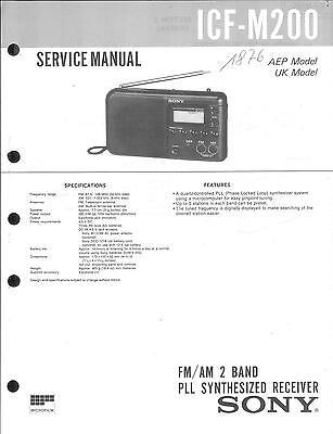 Sony Original Service Manual  für ICF-M200