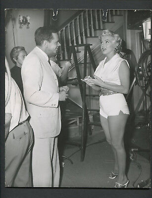 Vintage 1955 Photo Marilyn Monroe And Tom Ewell On Film Set