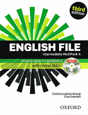 ENGLISH FILE THIRD EDITION Intermediate MultiPack A w iTutor + iChecker DVD @New