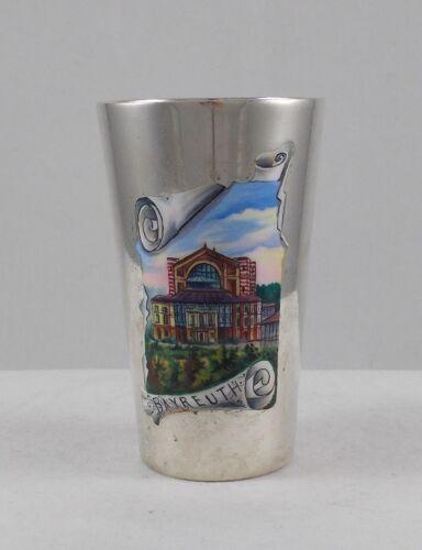 RAR Seltener Winecup Art Nouveau Enamel Bayreuth From 800er Silver