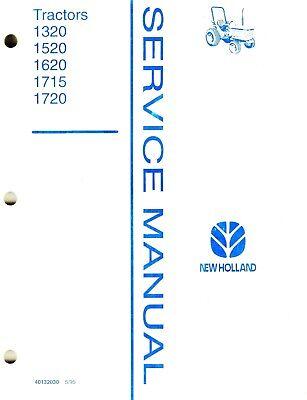 New Holland 1320 1520 1620 1715 1720 Compact Tractors Service Manual