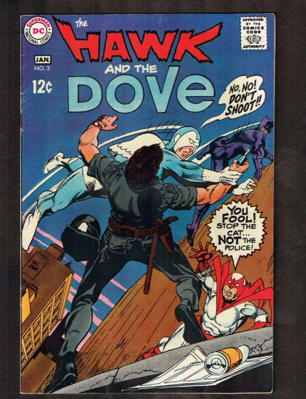 "Hawk and Dove #3 ~ ""After the Cat"" ~ 1969 (7.0) WH"