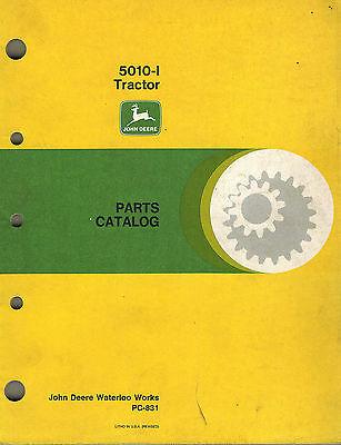 John Deere 5010-l Tractor Parts Catalog Pc831 Xx