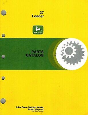 John Deere 37 Farm Loader Parts Manual Jd New