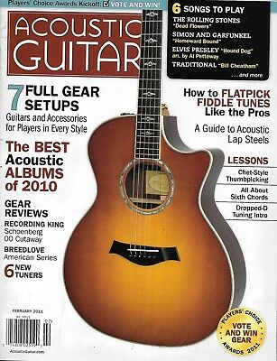 Acoustic Guitar Magazine Full Gear Setups Best Albums Of The Year Flatpick