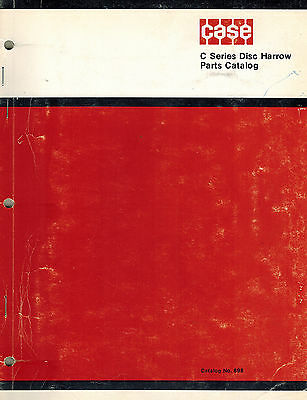 Case C Series Wheel Disk Harrow Parts Manual