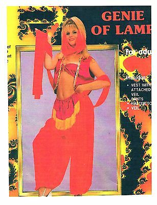 GENIE OF LAMP JEANNIE ADULT SEXY HALLOWEEN COSTUME NEW MED HAREM GYPSY ALLADIN