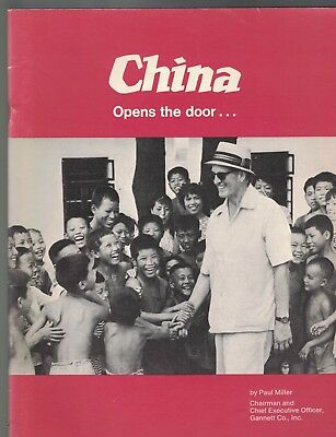 China Opens The Door Paul Miller Gannett Co Booklet October 1972
