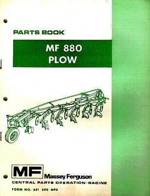 Massey Ferguson 880 Semi-mounted Plow Parts Manual New