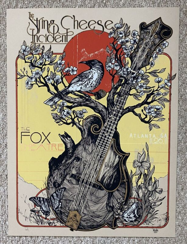 STRING CHEESE INCIDENT SCI ATLANTA 2011 FOX ORIGINAL SILKSCREEN CONCERT POSTER